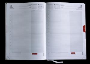 Блок А4 ежедневник, датированный, белый, 1 страница – 1 день