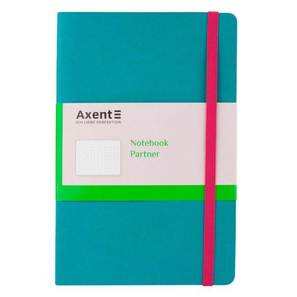 Записная книжка Partner Flex, А5-, 96л, гибкая обложка, точка, кремовый блок, бирюзовая