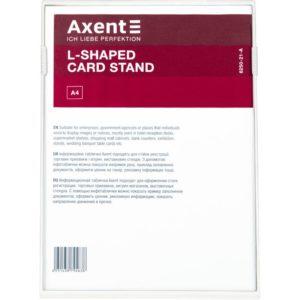 Табличка информационная L-образная, A5, прозрачная