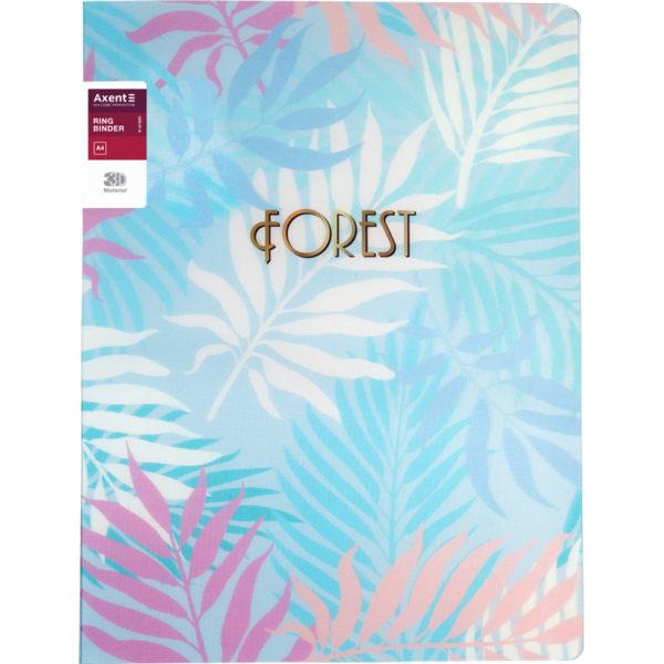 Папка пластиковая А4, Forest на 2 кольца, голубая