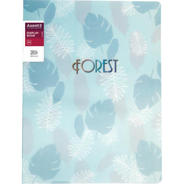 Папка пластиковая А4, Forest, с 20 файлами, 590 мкм, бирюзовая