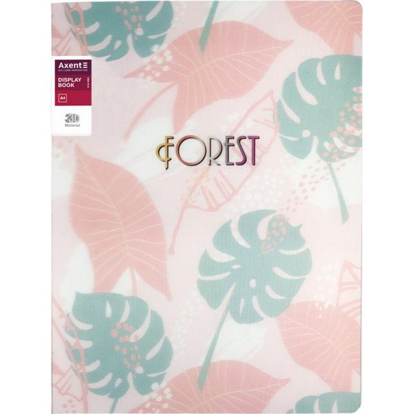 Папка пластиковая А4, Forest, с 20 файлами, 590 мкм, розовая