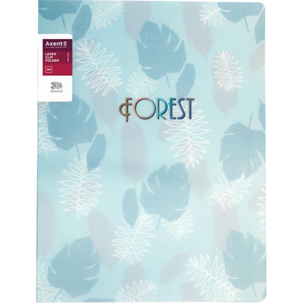 Папка пластиковая с зажимом Forest, А4, бирюзовая