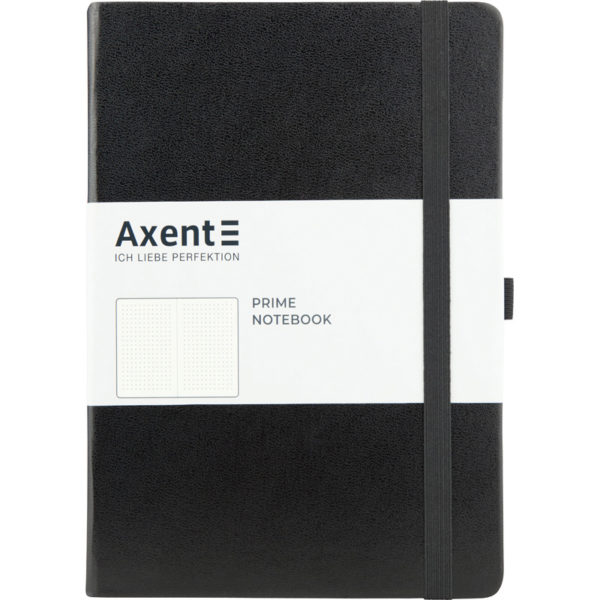 Записная книжка Partner Prime, А5, 96л, твердая обложка, точка, кремовый блок, черная