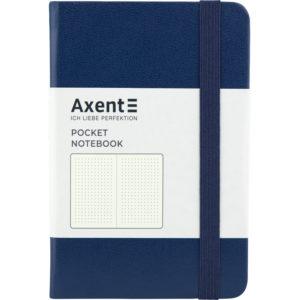 Записная книжка Partner, А6-, 96л, тв. виниловая обложка, точка, крем.блок, темно-синяя