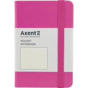 Записная книжка Partner, А6-, 96л, тв. виниловая обложка, точка, крем.блок, розовая