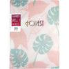 Блокнот на пружине сбоку, Forest, А5, 80л, в клетку, твердая обложка, сменный кремовый блок, розовый