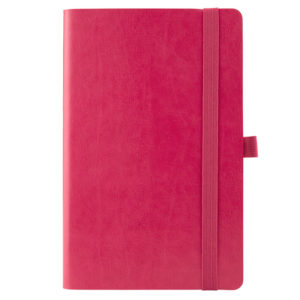 Еженедельник датированный А5-, 2020 Axent Partner Flex, гибкая обложка, кремовый блок, розовый