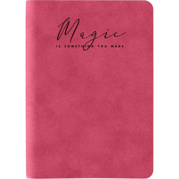 Записная книжка Nuba Strong, А6+, 96л, твердая обложка, клетка, кремовый блок, тонированный срез, красная