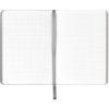 Записная книжка Nuba Soft, А6+, 96л, мягкая обложка, клетка, кремовый блок, тонированный срез, голубая 34561