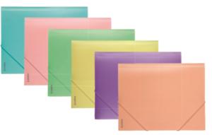 Папка пластиковая, на резинках, А5, Pastelini, 410мкм
