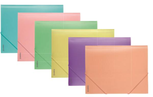 Папка пластиковая, на резинках, А4, Pastelini, 430мкм