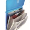 Папка-конверт на липучке, А4, Magic stones, 4 отделения, 400мкм 34021