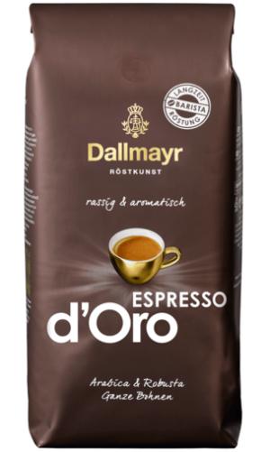 Кофе в зернах DALLMAYR Espresso d'Oro, 1 кг, 50% арабика + 50% робуста