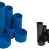 Подставка канцелярская пластиковая на 6 отделений (2 цвета)