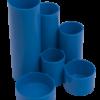 Подставка канцелярская пластиковая на 6 отделений (2 цвета) 35205