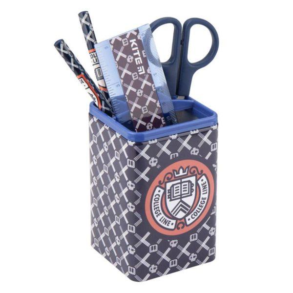 Набор настольный на 3 отделения K19-214-01, линейка, 2 карандаша, ножницы, металлический