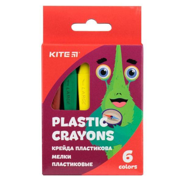 Мелки пластиковые 6 цветов, Jolliers K19-072-6, трехгранная форма