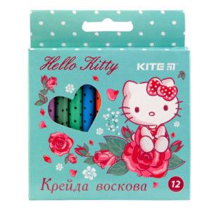 Мелки восковые 12 цветов Hello Kitty, диаметр 8мм HK19-070