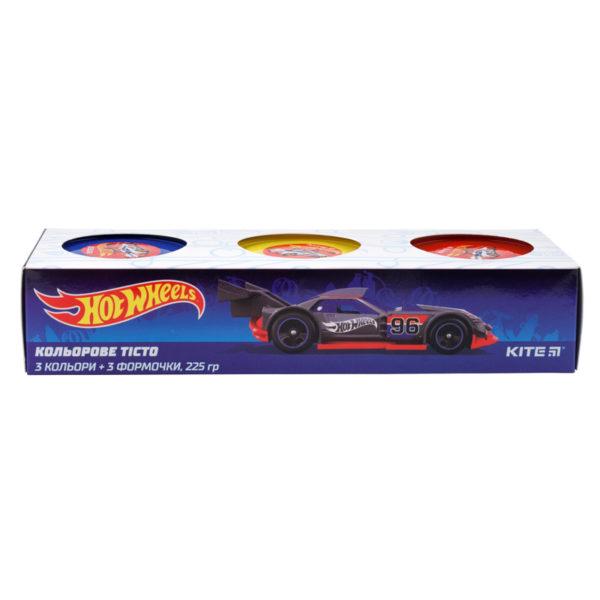 Тесто для лепки 3 шт Х 75г, 3 цвета, с формочками Hot Wheels HW19-151 картонная упаковка