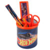 Набор настольный на 3 отделения HW19-205, линейка, 2 карандаша, ножницы, металлический