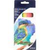 """Карандаши цветные акварельные с кистью, """"Птицы"""" 12 цветов, Kite K18-1049"""