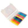 Мел пластиковый цветной 12 цветов, пенал PVC, Jolliers K19-083 35394