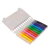Мелки гелевые 12 цветов, в пластиковой коробке-пенале Jolliers K19-094-12 35403