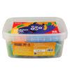 Тесто для лепки 50шт Х 20г, 20 цветов, с формочками Jolliers K19-138, пластиковое ведро