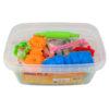 Тесто для лепки 50шт Х 20г, 20 цветов, с формочками Jolliers K19-138, пластиковое ведро 35443