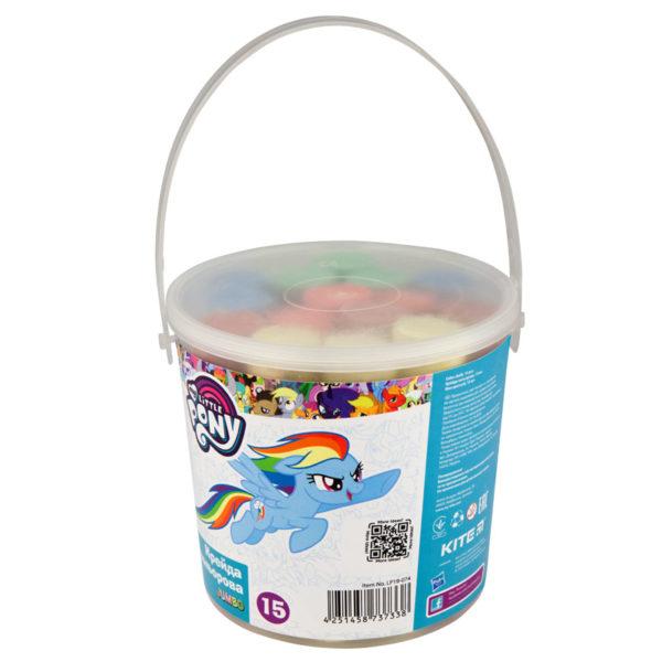 Мел цветной JUMBO, 15 шт. 5 цветов, в пластиковом ведре My Little Pony LP19-074