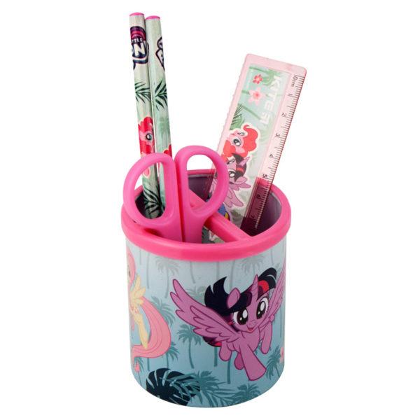 Набор настольный на 3 отделения LP19-205, линейка, 2 карандаша, ножницы, металлический