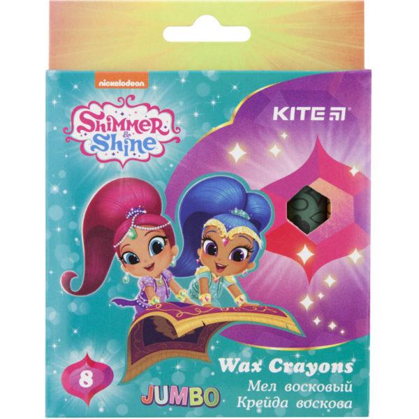 Мелки восковые JUMBO 8 цветов Shimmer & Shine, диаметр 12мм SH18-076