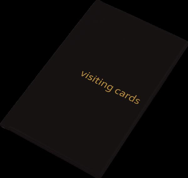 Визитница на 60 визиток, обложка PVC, черная