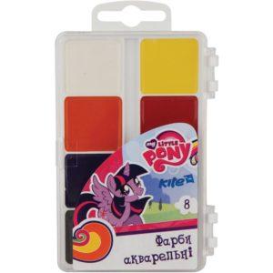 Акварельные медовые краски 8 цветов, б/кисточки My Little Pony LP19-065, пласт. упак.