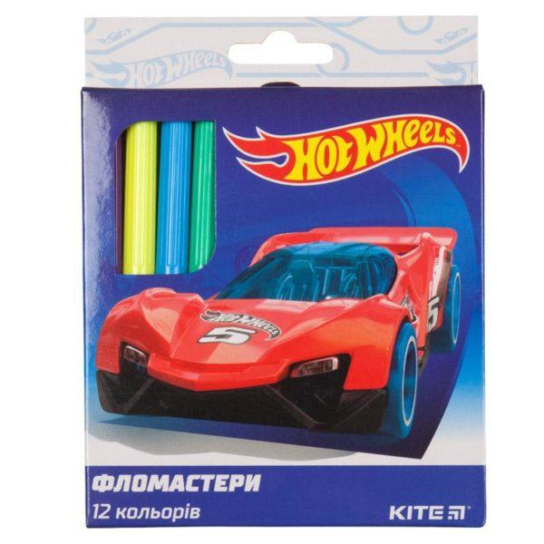 Фломастеры на водной основе Hot Wheels 12 цветов картонная упаковка HW19-047