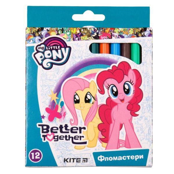 Фломастеры на водной основе My Little Pony 12 цветов картонная упаковка LP19-047