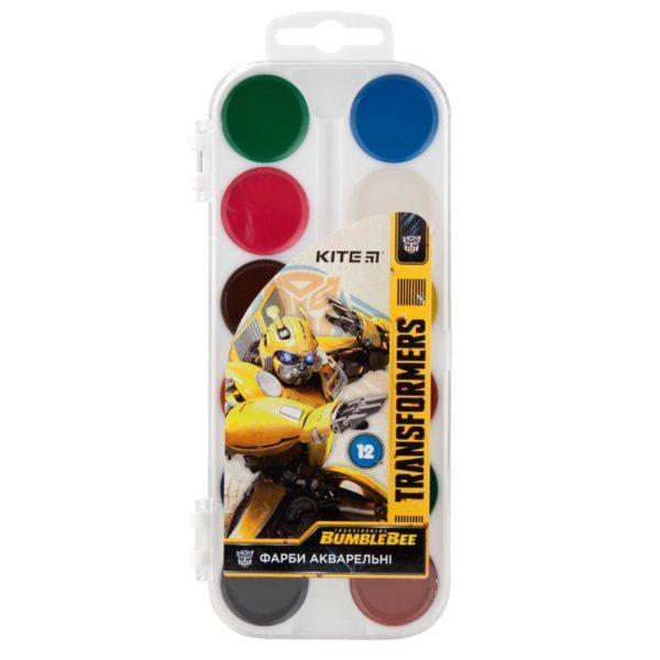 Акварельные краски 12 цветов, без кисти Transformers TF19-061, пласт. упаковка