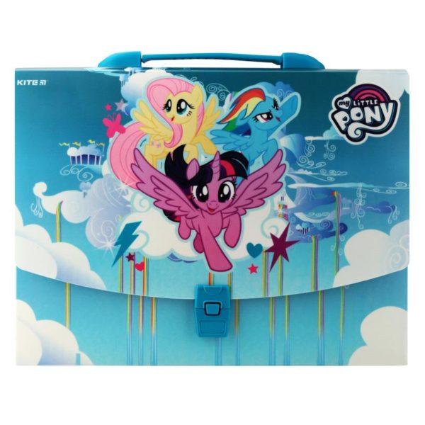 Портфель-коробка пластиковый на застежке А4 My Little Pony, 1отд. LP19-209