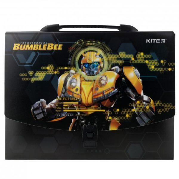 Портфель-коробка пластиковый на застежке А4 Transformers, 1отд. TF19-209
