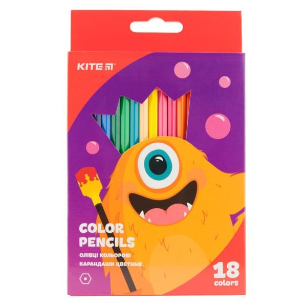 Карандаши цветные шестигранные Jolliers 18 цветов, K19-052-5