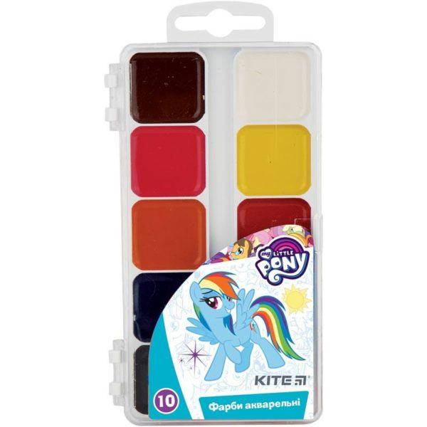 Акварельные краски 10 цветов, без кисти My Little Pony LP19-060, пласт. упаковка