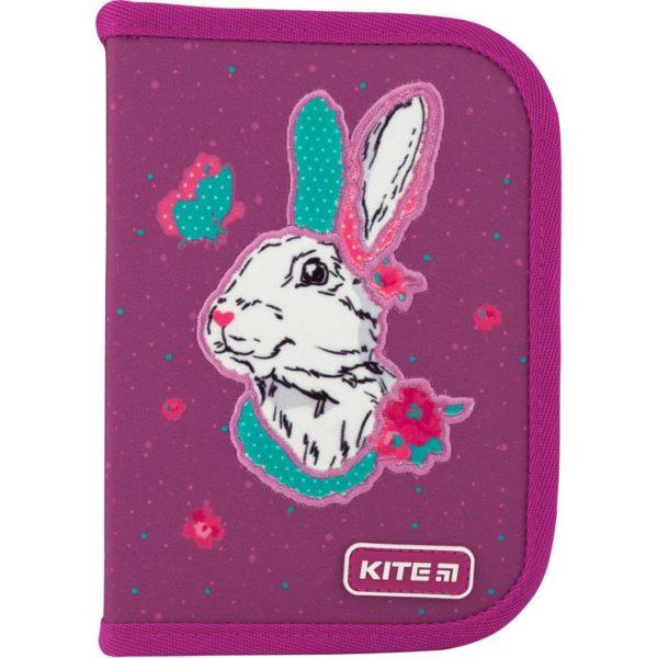 Пенал Kite Bunny 19,5x13x3,7см, 1 отделение, 2 отворота, без наполнения K20-622-5