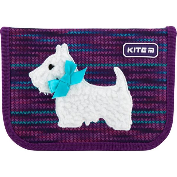 Пенал Kite Cute puppy 19,5x13x3,7см, 1 отделение, 2 отворота, без наполнения K20-622-11