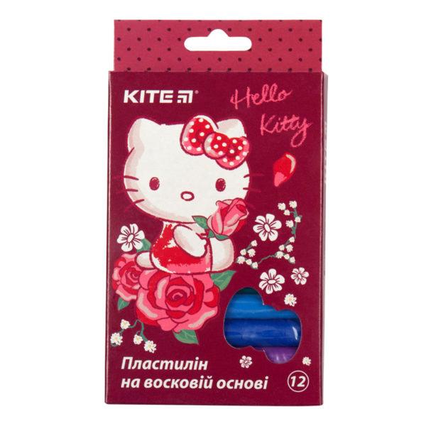 Пластилин восковый, 12 цветов, 200 г. Hello Kitty HK19-086