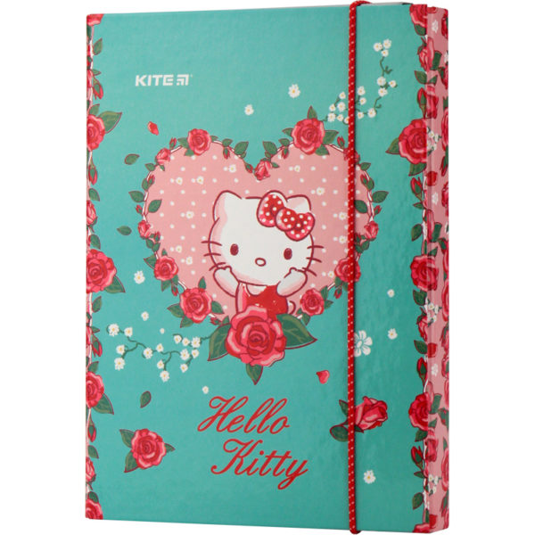Папка для тетрадей картонная В5, Hello Kitty на резинке HK19-210