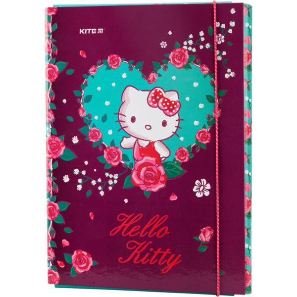 Папка для труда А4, на резинке, Kite Hello Kitty ламинированный картон, HK19-213