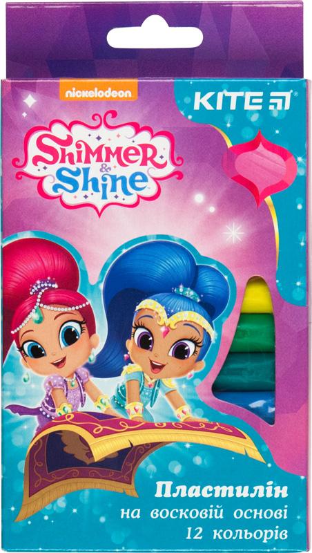 Пластилин восковый, 12 цветов, 200 г. Shimmer&Shine SH18-086