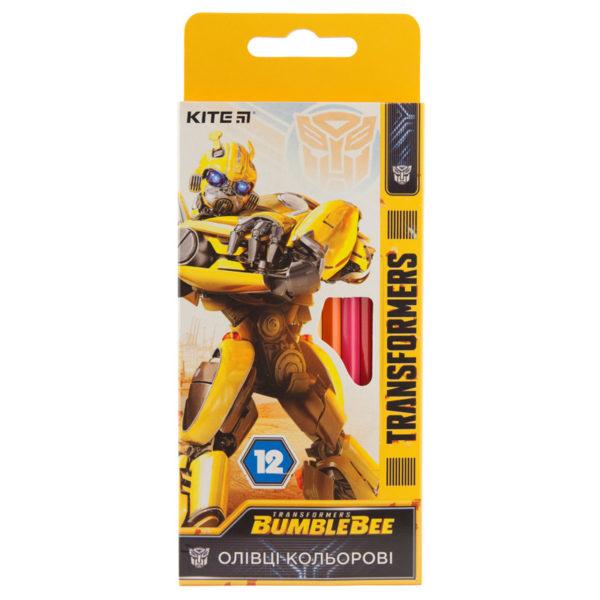 Карандаши цветные шестигранные Transformers 12 цветов, TF19-051