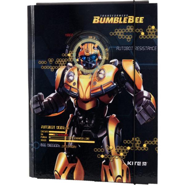 Папка для труда А4, на резинке, Kite Transformers ламинированный картон, TF19-213